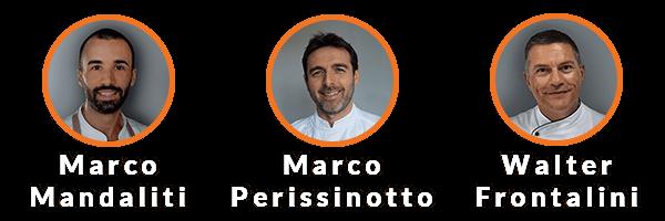 Marco Mandaliti, Marco Perissinotto, Walter Frontalini