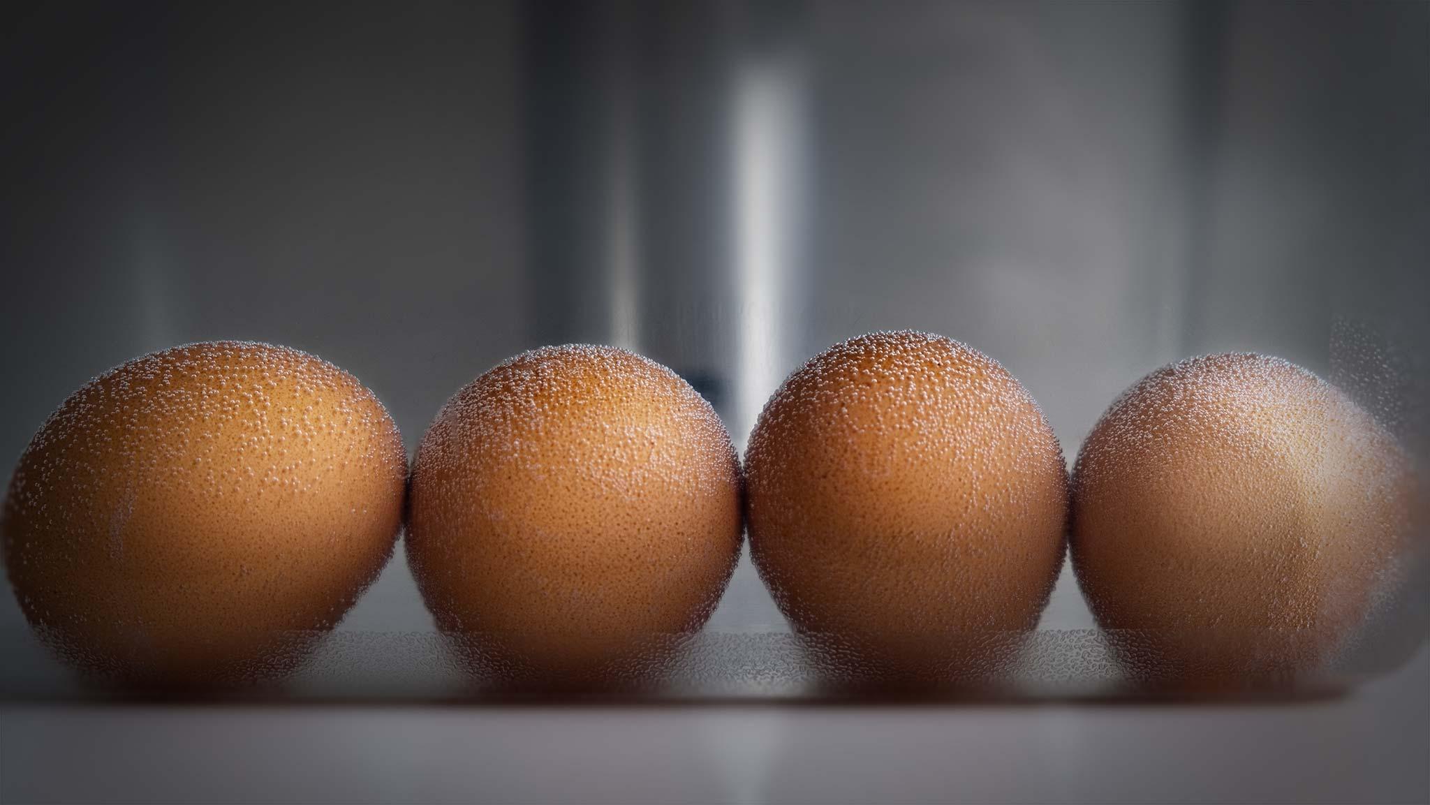 Uova cotte a bassa temperatura